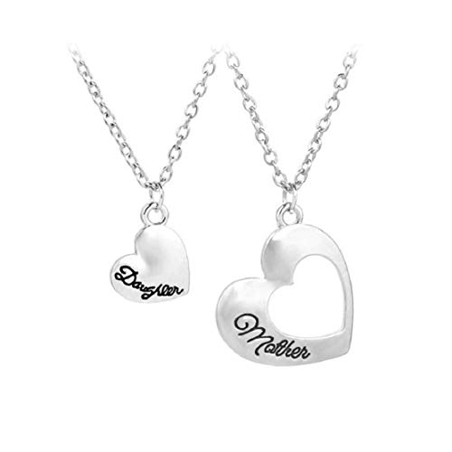 Vacally Romantic Heart Pendant Jewelry Simple Fashion Beautiful Joker Couple Dating Mother Birthday Necklace Gift ()