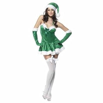 Desconocido Disfraz de Mamá Noel sexy para mujer: Amazon.es ...