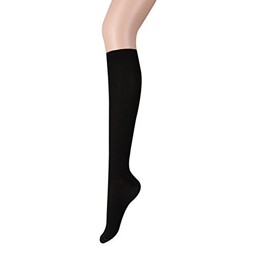Delight eShop Men Women Anti-Fatigue Knee High Elastic Stockings Compression Leg Support Socks (L/XL, - Delight Stripe