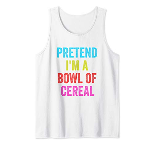 Lazy Halloween Costume Shirt Pretend Im A Bowl Of Cereal  Tank Top]()