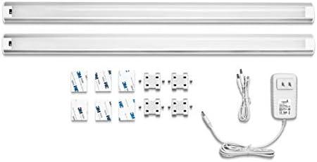 Hyperikon Under Cabinet LED Lighting, 24 Inch, 65 Watt Replacement 9W , Dimmable Under Counter LED Bar, 4000K Daylight, Motion Sensor, 2 Pack