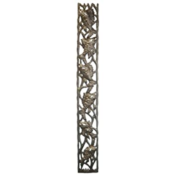 Le Primitif Galleries Haitian Recycled Steel Oil Drum Outdoor Decor 16 by 10-Inch Fish Window