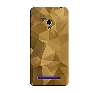 Cover It Up - Olive Green Pixel Triangles Asus Zenfone 5 Hard Case