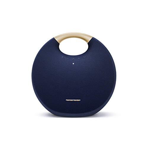 Harman Kardon Onyx Studio 6 - IPX7 Waterproof Wireless Bluetooth Speaker System w/Rechargeable Battery, Built-in Microphone (Blue)