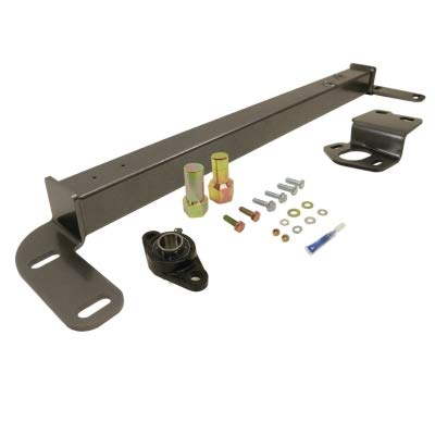 BD Diesel 1032003 Steering Stabilizer Bar Incl. Steering Box Support/Sector Shaft Bolt/Bearing Assy/Hardware/Thread Lock Steering Stabilizer Bar (Dodge Steering Box)