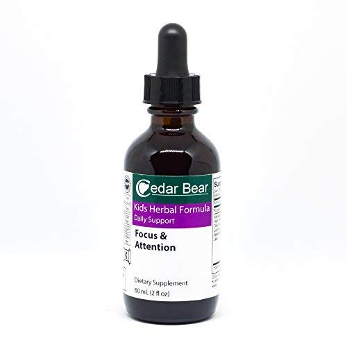 Focus & Attention for Kids 2 Fl Oz Liquid Herbal Supplement by Cedar Bear Naturales