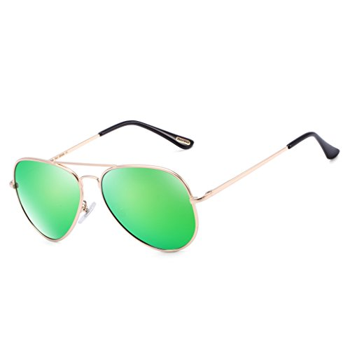Bertha Classic Aviator Polarized Mirrored Sunglasses 805 Bright - Sunglasses Aviator Green