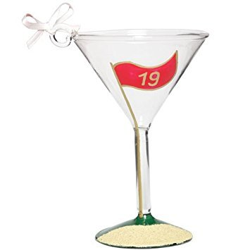 Lolita Martini Glass Christmas Ornament Golftini Mini-Tini