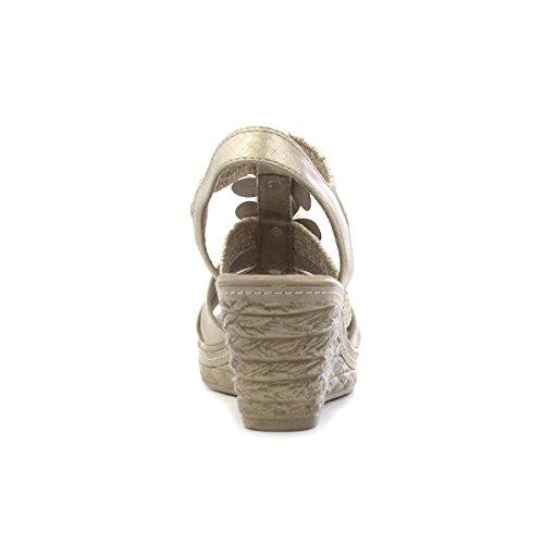 Marco Tozzi Womens Taupe Wedge Sandal Beige QBM8c