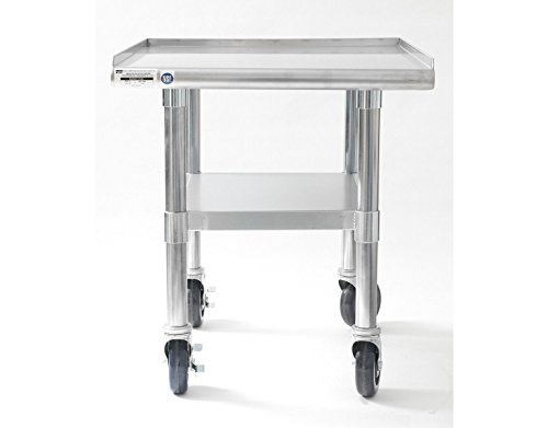Equipment Stainless Steel Restaurant (NAKS TABLE-24 Stainless Steel Equipment Stand/Table with Undershelf and Casters, 24-Inch X 27-Inch)