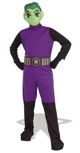 Beast Boy Costume For Kids (Rubie's Costume Co Beast Boy Costume, Large, Large)