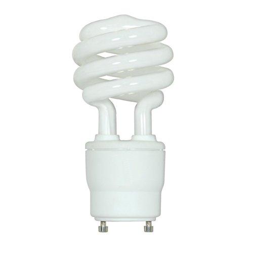 (Pack of 12) Satco S8205, 18 Watt (75 Watt) 1200 Lumens Mini Spiral CFL Soft White 2700K GU24 Base, Compact Fluorescent Light Bulb