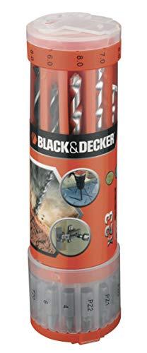 Jogo de Furar e Parafusar 23 Peças, Black+Decker