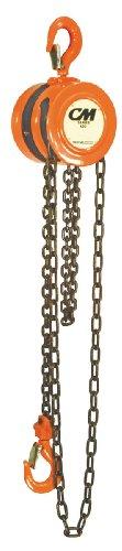 CM 2256 Steel Lightweight Hand Chain Hoist, 2000 lbs Capacity, 10' Lift Height, 1-1/32