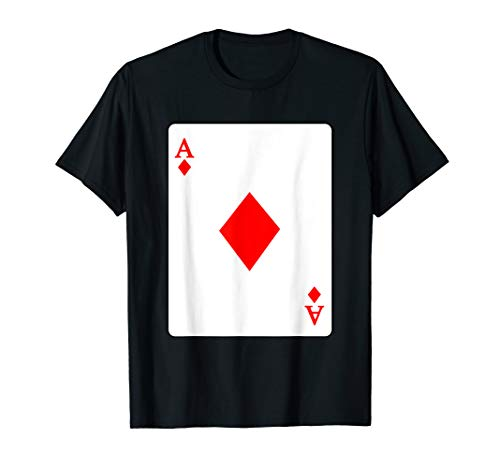 Ace Of Diamonds Playing Card T-Shirt Poker Player -
