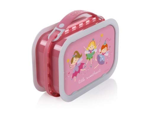 Yubo Deluxe Lunchbox with Fairy Princess design, Pink
