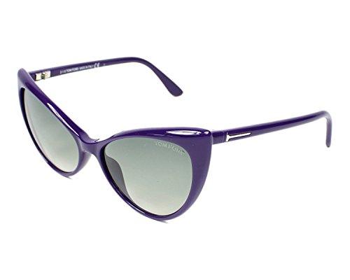 - Tom Ford Women's Designer Sunglasses, Shiny Blue