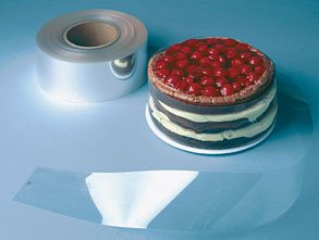 Clear Acetate Cake Collar, Pack of 200 - 3-1/2'' x 28-1/2''
