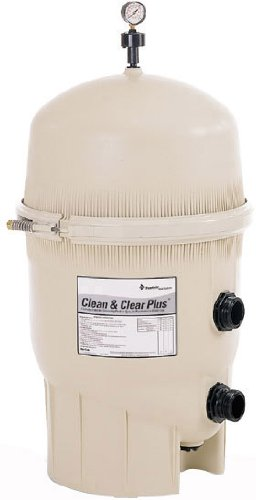 Pentair 160332 Clean & Clear Plus Fiberglass Reinforced Polypropylene Tank Cartridge Pool Filter, 520 Square Feet, 150 GPM (Residential) by Pentair