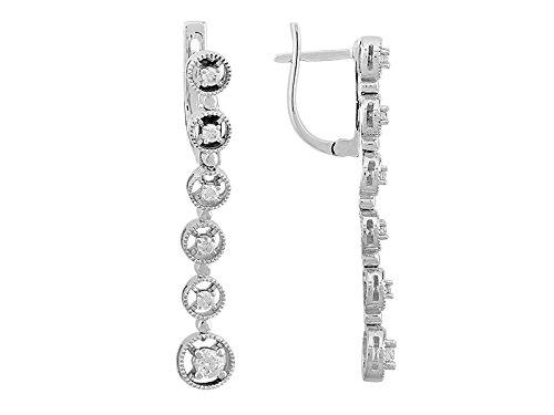 Boucles d'Oreilles Chute Diamants-Femme- or Blanc 206E0005