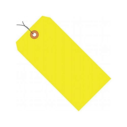 (1000/Cs) Pre-Wired Fluorescent Shipping Tag #8, 13 Pt, A, B, C, D, E, 6.25