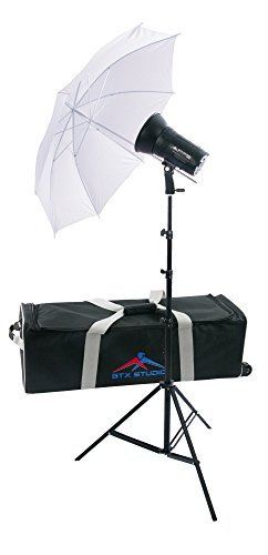 GTX Studio 300 W/S with Battery, Charger, 2.4gHz, 8ft Stand, Umbrella, Kit Bag