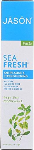 Jason Sea Fresh Antiplaque & Strengthening Toothpaste, Deep Sea Spearmint 6 oz - Jason Healthy