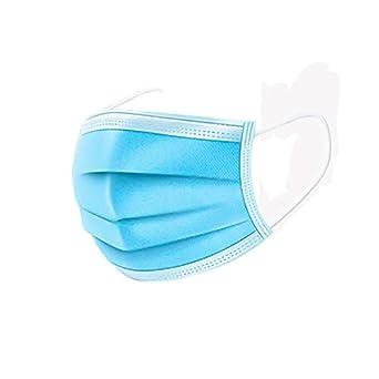 20 Piezas Mascarillas Desechables 3 Capas Máscaras De Cubierta Protectora Conjunto Máscara A Prueba De Polvo Protección Facial Antipolvo Quirúrgico Médico Saló