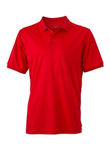 Herren Active Polo | James & Nicholson | JN 576, Farbe:red;Größe:L