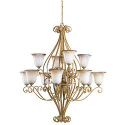 Kichler Lighting 2156WBR 20 Light Kendale Grande Chandelier, Wispy Brulee ()