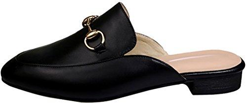 Zapatos Calaier Mujer Catalent Con Tacón Cerrado 3cm Block Heel Slip-on Mule Black B