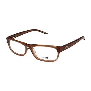 Just Cavalli Jc125 Mens/Womens Designer Full-rim Spring Hinges Eyeglasses/Eyewear (52-14-135, Amber)