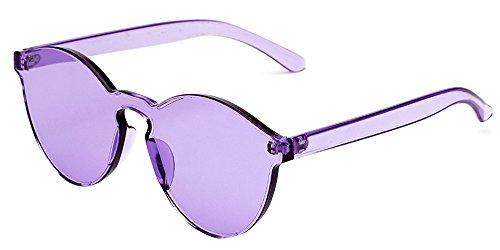 Lunettes Lunettes intégrées BOZEVON Color Lunettes Violet Candy soleil intégrées Œil de chat UV400 Unisexe C8 de T8Exw8nz