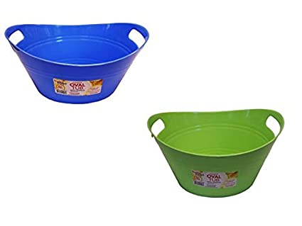 Oval Plastic Storage Tubs With Handle Small Size 128 X 9 X 63