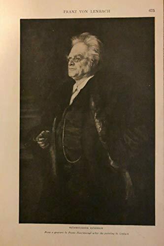 1906 Vintage Magazine Illustration Norwegian Author Bjornsterne Bjornson