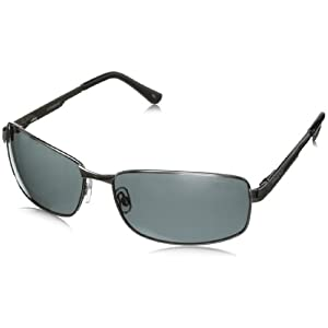 Polaroid P4416S Polarized Rectangular Sunglasses,Gunmetal & Gray Polarized,63 mm