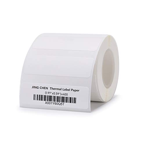 "JINGCHEN Thermal Label Paper, Print with B11/B3, Widely Used in Inventory/Food/Supermarkets/Clothing & Shoes & Hats, Label Printing, 1.97""x0.59"", 400 Labels/Roll by JINGCHEN (Image #7)"