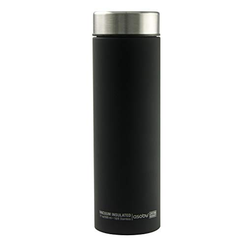 Asobu Le Baton Insulated Vacuum Sealed Stainless Steel Trendy Sport Travel Water (Silver)