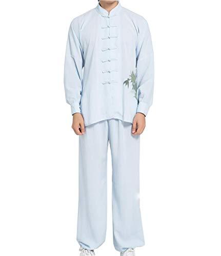 (WAZMM AZZ Tai Chi Uniform Clothing Martial Arts Kung FuTaekwondoTraining Luxurious Cotton Silk Stretch Traditional Tai Chi Exercise Polyester Fibre Uniforms Loose and Comfortable)