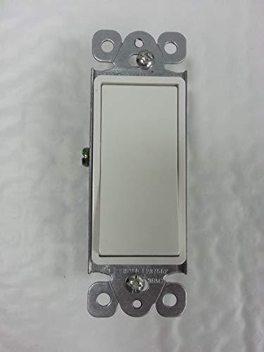 (1 pc) Lighted 3-Way 15A Decorator Switch 15 Amp Decora Illuminated White -