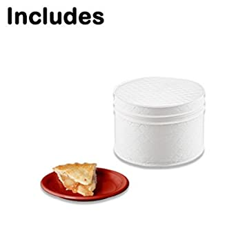 RED LAMINET 4 Piece Quilted Plate Storage Set Holds Up to 48 Plates with Padded Inserts