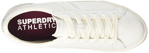 Trainer Collo a Superdry Basso Vintage Bianco Uomo Court Optic Sneaker ERqRHUw