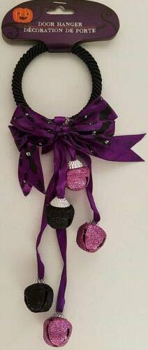 The Pecan Man Halloween Jingle Bell Door Knob Hangers Purple & Black Bell 1 pc -