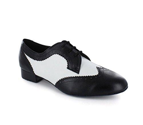 Minitoo Men's JF250901 Swing Tango Ballroom Salsa Latin Dance Shoes Black yENIwHL