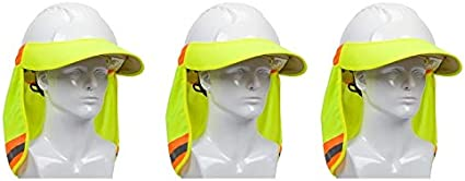 Fоur Расk EZ-Cool 396-800-YEL Hi-Vis Hard Hat Neck Sun Shade With Visor Large Yellow