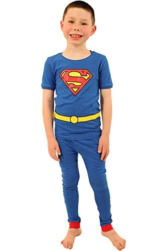 Kids Clark Kent Costume (DC Comics Boys 'Superman Superhero Clark Kent Logo' Cotton Costume Pajama Set, Multi,)