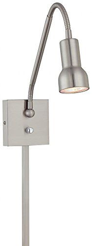 George Kovacs P4401-084, Save Your Marriage Swing, 1 Light Wall Lamp, Brushed Nickel ()