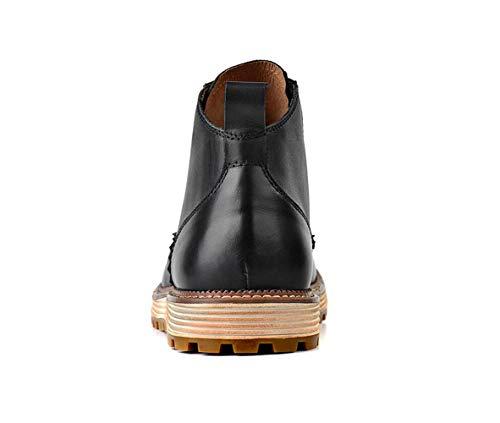 Scarpe E Stivali Autunno Stivali Martin Fiori da Black Esterni Uomo Inverno in Pelle Intagliati Stivali qRqBYr