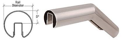 CRL Polished Stainless 32 Degree Upper Incline Corner for 3-1/2' Diameter