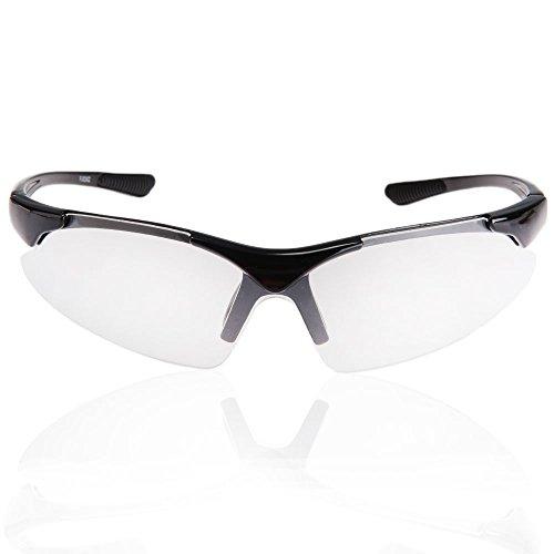 XQ-XQ Sportbrille Radbrille Sonnenbrille Nebelschutz anti-fog Glas, eignet für Radfahren - Skifahren - Laufen - Driving - Motorradfahrer -Golf (transparent)